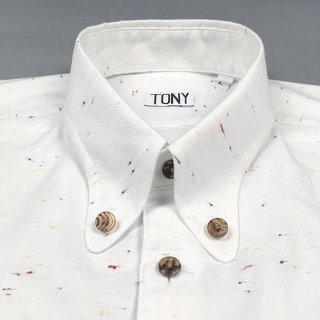 Tony Shirtmakers Round Point Spear Collar Button Down - Chambray