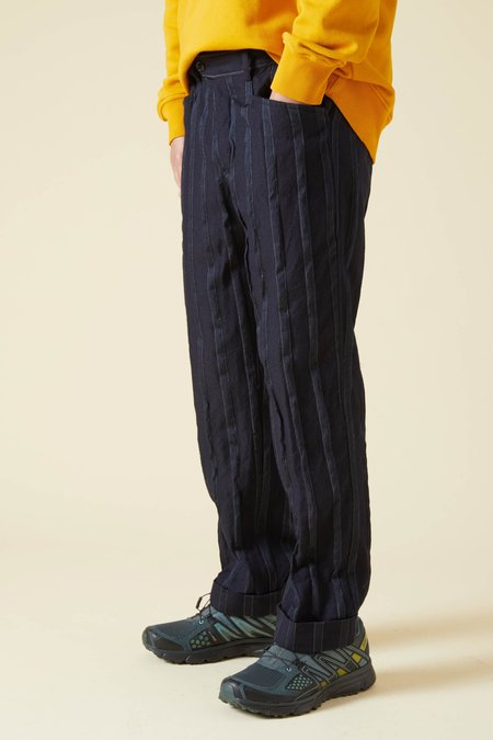 TSS Wool Stripe L Pocket Pants - Navy