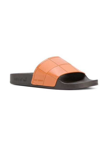 Adidas x Raf Simons Adilette Checkerboard Slides - Black/Brown