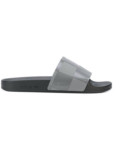 Adidas x Raf Simons Adilette Checkerboard Slides - Black/Granite
