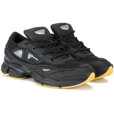 ADIDAS X RAF SIMONS Black Ozweego III Trainers - Black/Yellow