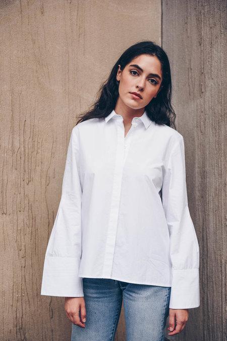 Pause. Lenox Boyfriend Shirt - white