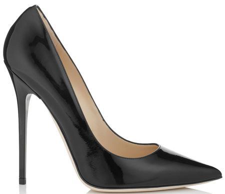 Jimmy Choo Anouk Patent Leather Pointy Toe Pumps - Black
