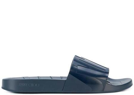 Jimmy Choo Rey Slides - Navy