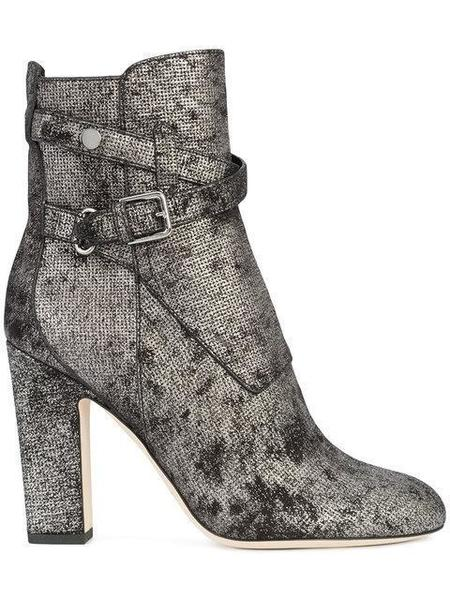 Jimmy Choo Mitchel 100 Ankle Boot - Metallic Washed Dotted Suede