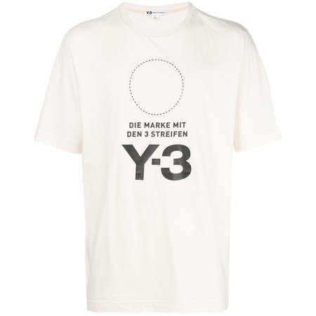Y-3 Stacked Logo T-Shirt - Champagne