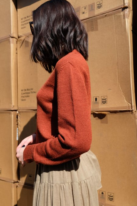 Beklina Alpaca Cardigan Sweater - Wet Clay
