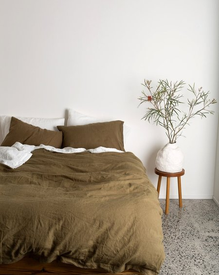 OF THE SUN DUVET SETS Queen - Olive