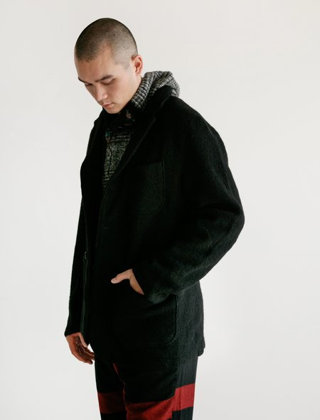 Engineered Garments Boiled Wool Knit Jacket - Black