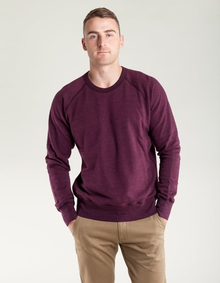 National Athletic Goods Raglan Warm Up Sweater - Wine
