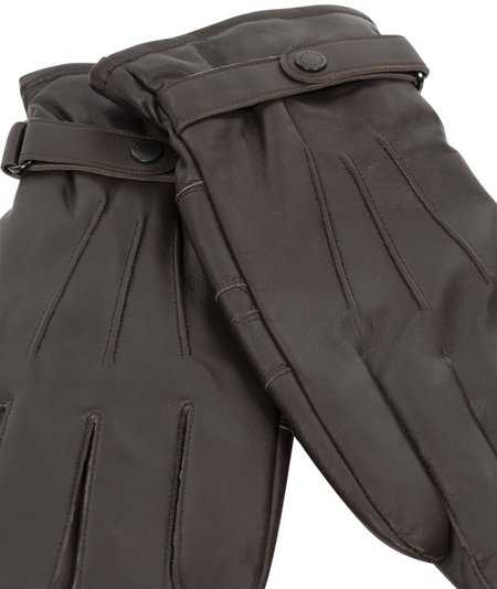 Barbour Accessories Burnished Leather Glove - Brown