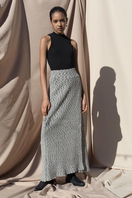 Pari Desai Chavara Sweater Skirt - Black/White Marl