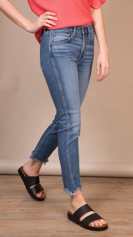 3x1 Straight Leg Authentic Ace Jeans With Fray Bottom