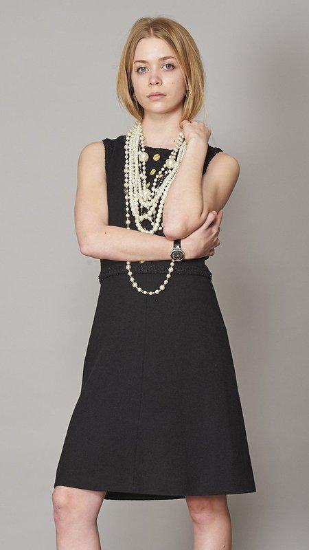 Edward Achour Paris A-Line Dress - Black