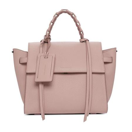 Elena Ghisellini Usonia Angel L Jet Setter Leather Handbag - Poudre