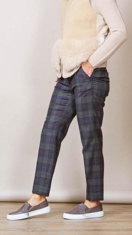 Peserico Blue Plaid Pants