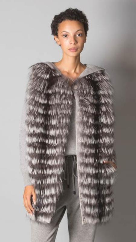 Fabiana Filippi Fox Fur Vest - Grey