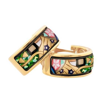 FreyWille Hommage a Gustav Klimt Earrings Mini-Creoles - The Ultimate Kiss
