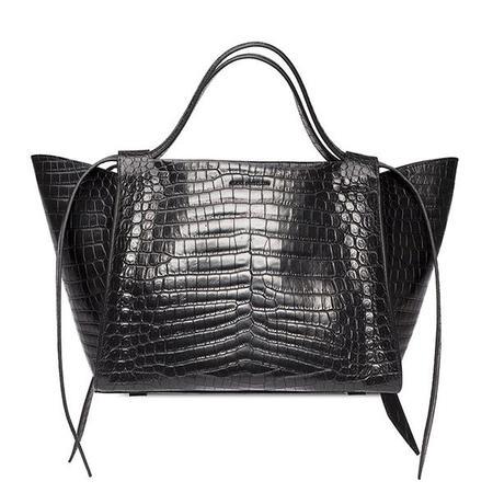 Elena Ghisellini Usonia M Leather Handbag - Black
