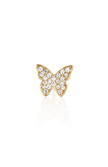 EF Collection Diamond Butterfly Stud