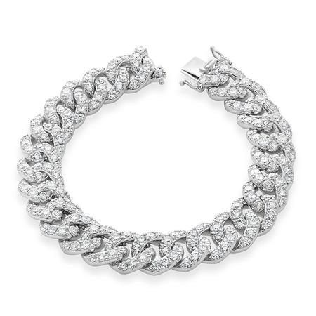 Diamond Dream Signature Collection Cuban Link Bracelet - White Gold