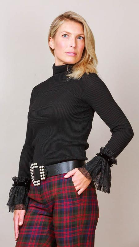 Philosophy Turtleneck Sweater With Bell Sleeves - Black