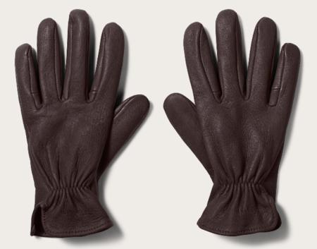 Filson Original Deerskin Gloves - Brown