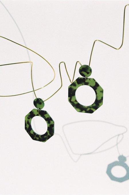 Après Ski Clef Earrings - Green Tortoise