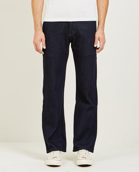 Naked & Famous STRAIGHT CHINO LOOSE WEAVE DENIM - INDIGO