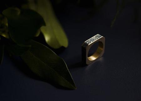 Unisex Béton Brut Goldfinger Ring