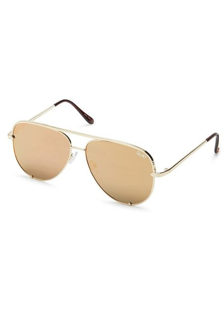 b9acf25377 ... Quay High Key Mini Sunglasses - Gold