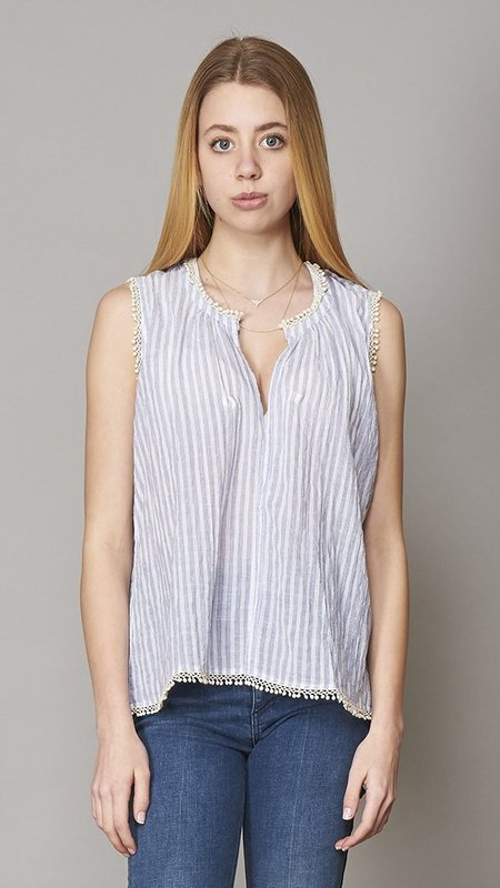 Birds of Paradise Striped Blouse