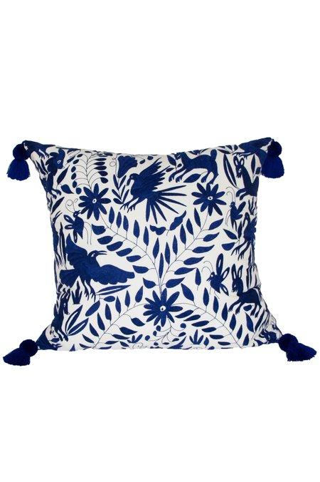 Nativa Oversized Otomi Floor Pillow - Royal Blue