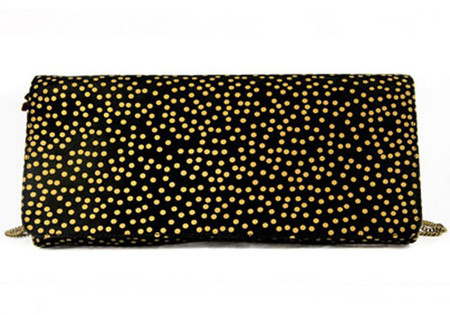 Binichic Florence Snow Black Gold Clutch