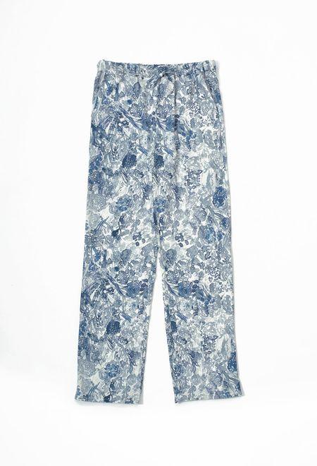 Samuji Geralyn Trousers - White/Grey/Blue