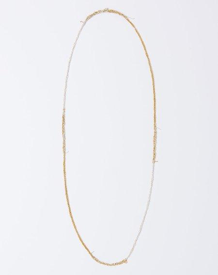 Arielle De Pinto Four Tone Simple Necklace - Silver/Gold