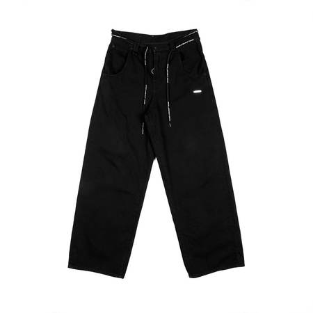 OFF-WHITE Exaggerated Denim Pants - Black