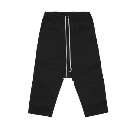 RICK OWENS DRKSHDW Drawstring Cropped Pants - Black