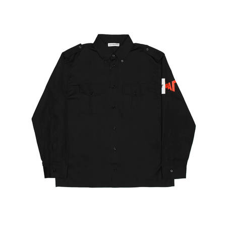 Gosha Rubchinskiy Sleeve print shirt - Black