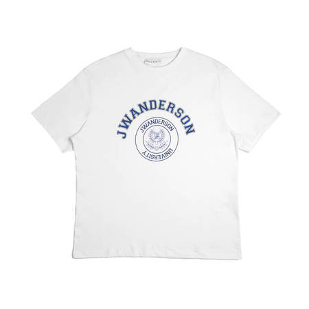 JW ANDERSON University Logo T-shirt - White