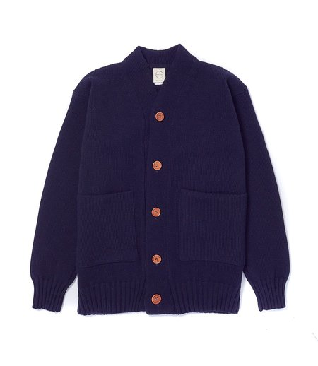 Country of Origin 3 Ply Cardigan - Dark Navy