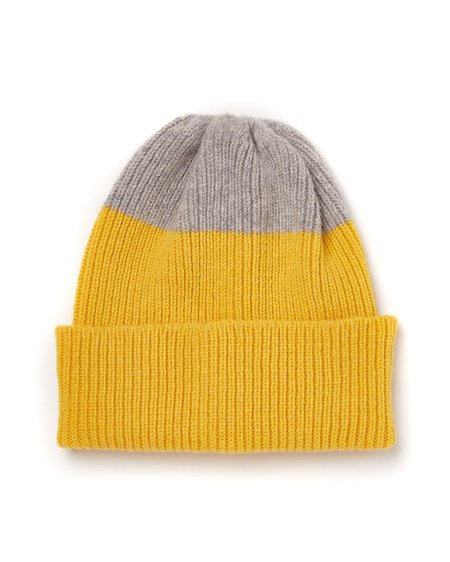 Country of Origin Top Tip Watch Cap - Yellow/Grey