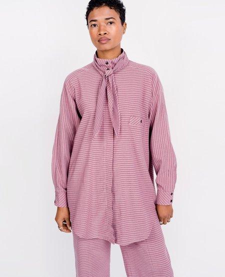 Mr. Larkin Really Shirt - Pink Check