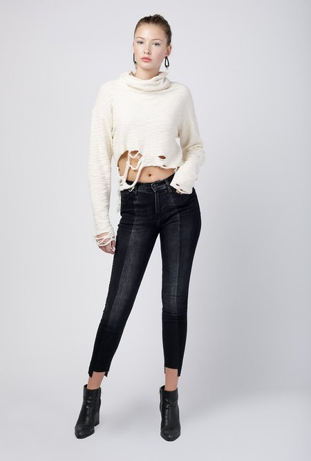 Hudson Jeans Nico Midrise Super Skinny Ankle Jean - Black Sand