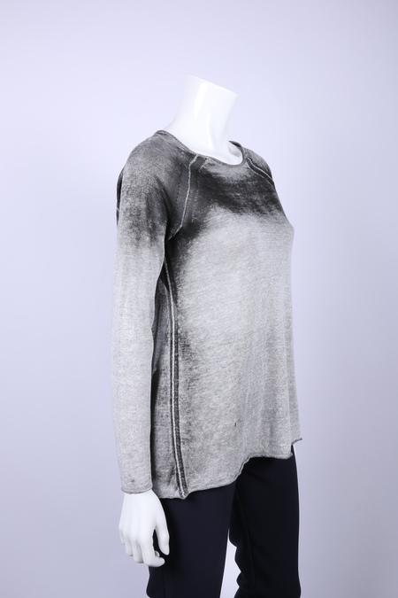 Transit painted ombre open back linen sweater