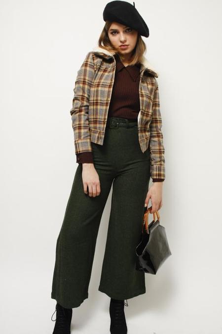 SAMANTHA PLEET TIGHTROPE PANTS - EMERALD