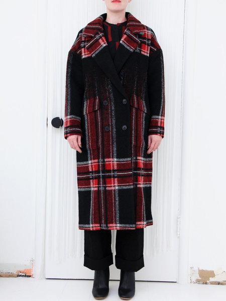 Teoh&Lea Coat - Black/White/Red Plaid