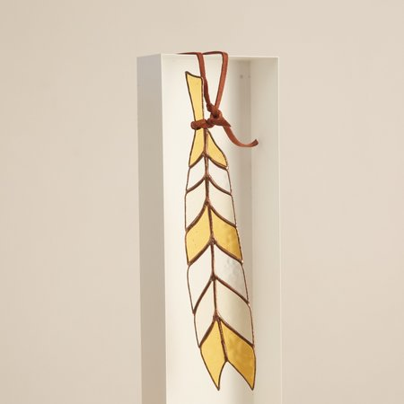 Colin Adrian Chevron Stained Glass Feather - Multi