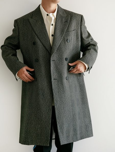 Calvin Klein Boxy DB Coat - Grey Black/Marine