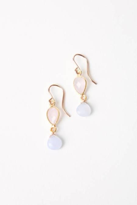 Leah Alexandra Blush Moonstone/Lavender Chalcedony Iman Singles